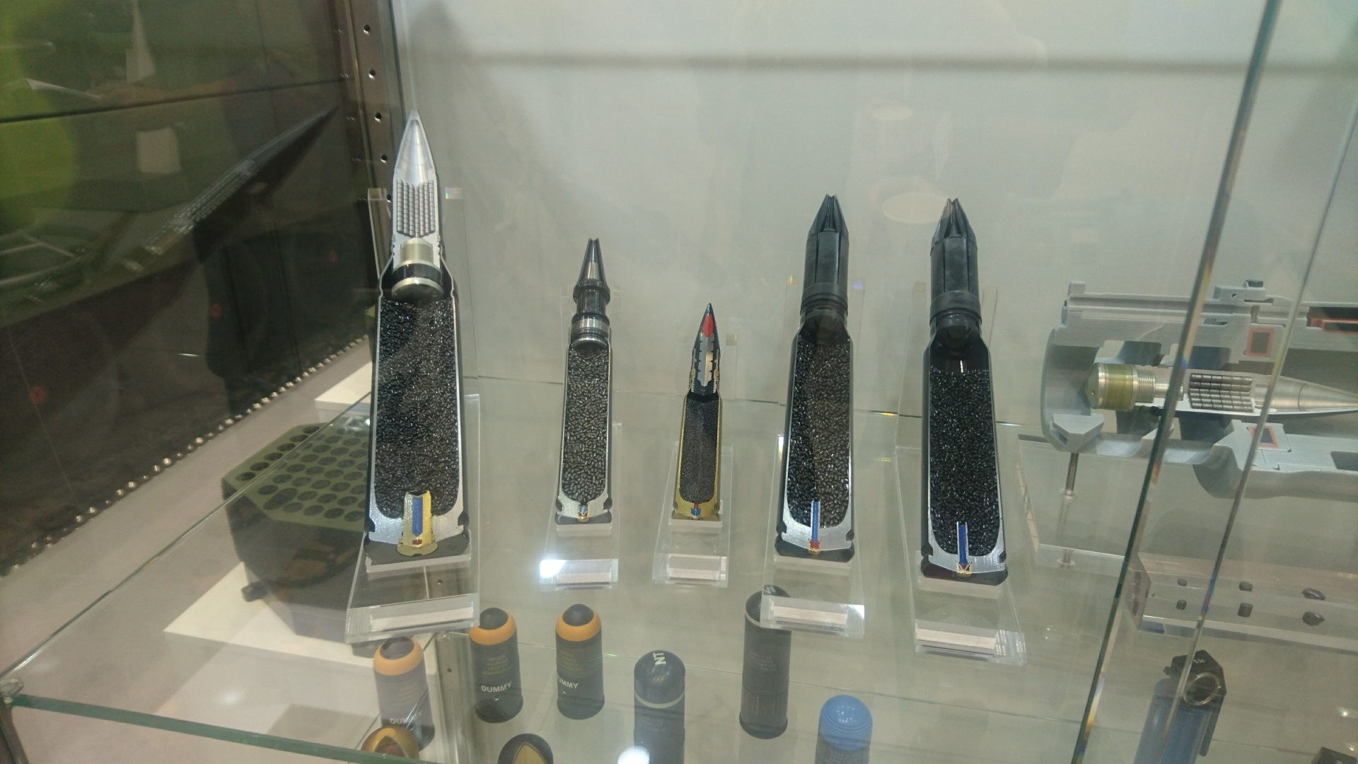 Rheinmetall's exposition of ammunition