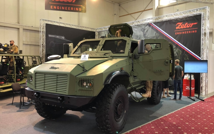 Zetor Engineering Slovakia unveiled it's prototype of the Gerlach 4x4 armored vehicle