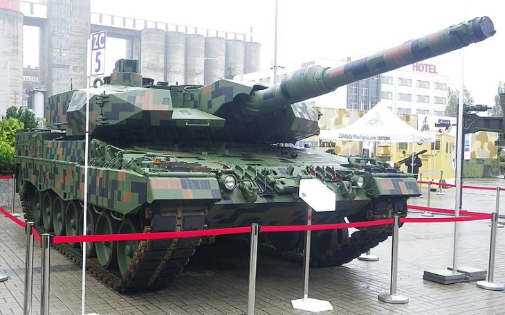 The first two modernized Leopard 2PL Main Battle Tanks ready for the Polish army